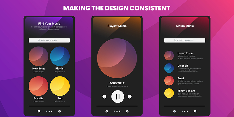 Making The design consistent