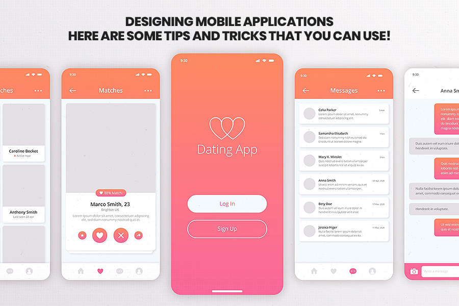 Tips and Tricks For design mobile applications